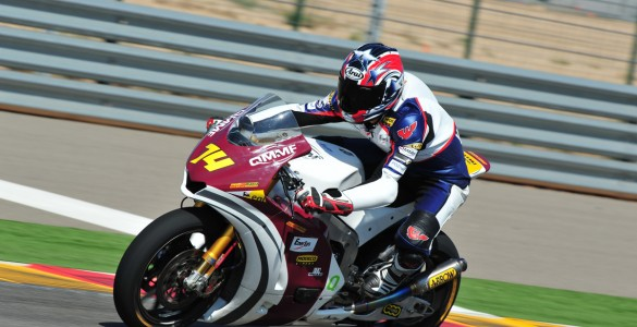 Korobacz tests a Moto2 bike in Spain