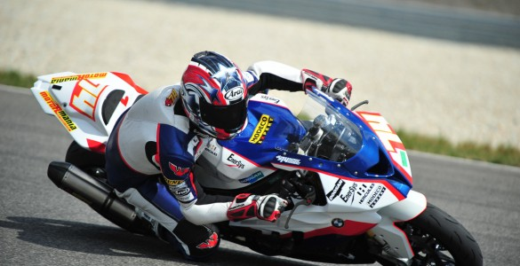 Korobacz on a Superstock 1000 learning curve at Brno